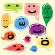 happy speech bubbles