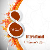 Beautiful creative colorful background element for women's day d