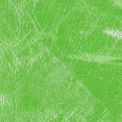 green leatherette closeup