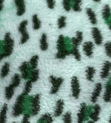 greenish leopard  faux fur texture