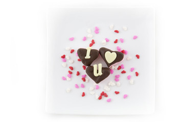 Marshmallow Hearts - I love you with sprinkles
