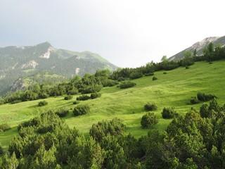 The mountains above the village Malbun