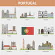 Portugal. Symbols of cities - 62047351