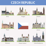 Czech republic. Symbols of cities