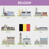 Belgium. Symbols of cities