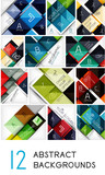Mega collection of square abstract background