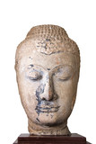 16th - 17th Century A.D. head from a buddha image in Ayutthaya s