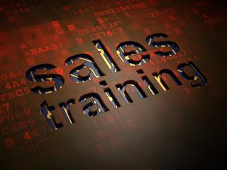 Marketing concept: Sales Training on digital screen background