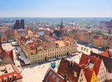 old town square with city hall, Wroclaw - 62049197