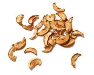 Dried apples, isolated on a white background