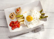 fried egg with asparagus