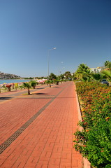 Embankment of Alanya. Turkey