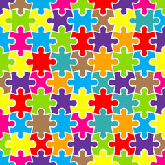 Abstract puzzle background with colorful pieces