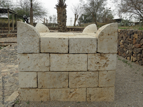 Beer Sheva: the replica of the horn altar