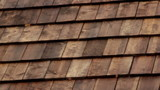 Closer Cedar wooden shingles roof roofing roof industry
