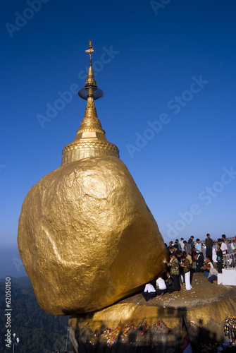Kyaiktiyo Pagoda or Golden Rock Pagoda