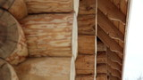 Close image the cabin log house tenon