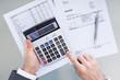 Businessperson Analyzing Financial Data
