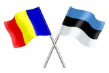 Flags: Romania and Estonia