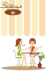 カフェでおしゃべり
