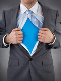Businessman Showing Superhero Suit