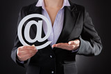 Businessperson With Email Symbol