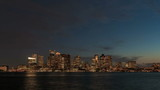 Time lapse Boston Skyline Night