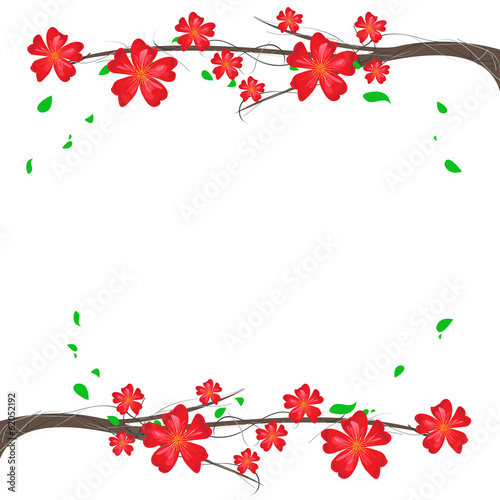 branch ornament background