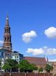 HAMURG-Stadtpanorama m. Hauptkirche St. Katharinen