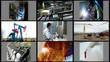 Industry-split screen