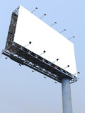 Blank billboard against blue sky. Useful for your advertisement.
