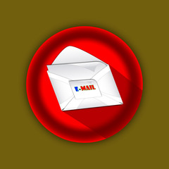 3d email letter red icon