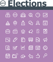 Elections icon set