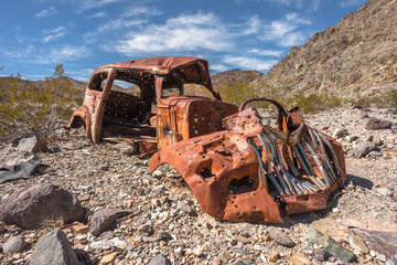 Abandoned vintage rusty car