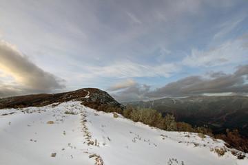 Nieve en el Manaero, Sauceda, Hurdes, España