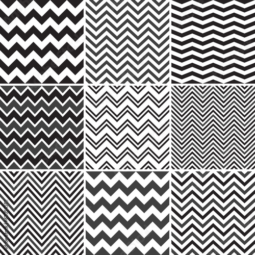 Black Chevron seamless patterns