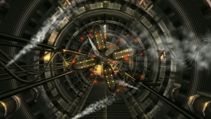 underground tunnel . abstract 3d graphics , vj