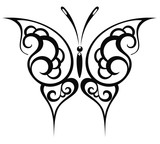 Butterfly tattoo background