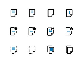 Notepad Document file and Note duotone icons.