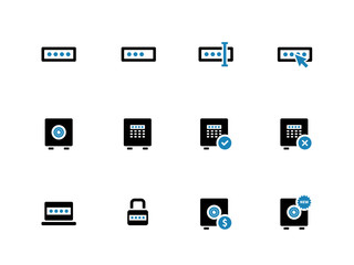Password duotone icons on white background.