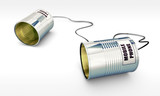 mobile phone with tin can