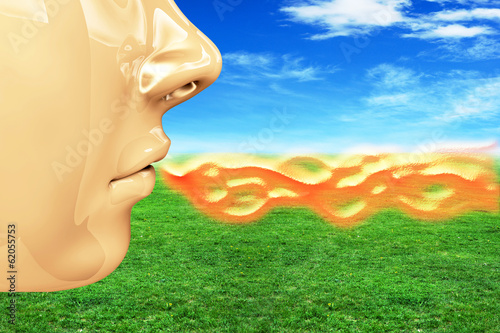 canvas print picture Halitosis- 3D Render