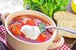 Traditional Russian-Ukrainian borscht soup