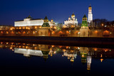 Panorama of the Moscow Kremlin in the early morning