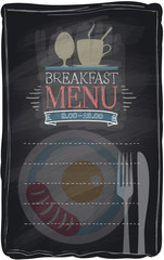 Vintage chalk breakfast menu.