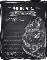Chalk healthy food menu.