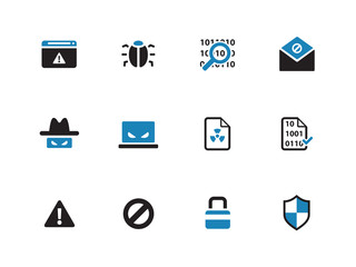 Security duotone icons on white background.