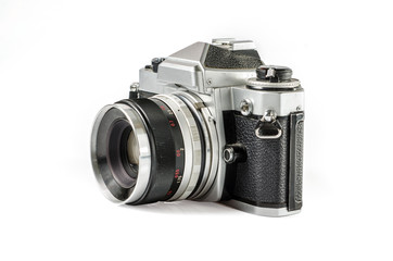 Retro photo camera :Clipping path included