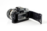 Rear-view  of a film photo camera :Clipping path included