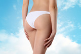body of woman exposing bottom and back side poster